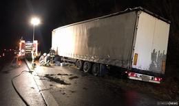 Wieder Lkw-Unfall auf A66 zwischen Bad Soden-Salmünster und Steinau