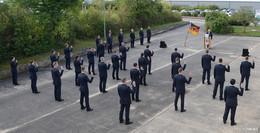Vereidigung auf das Grundgesetz: Neue Beamten bei der Bundespolizei