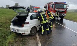 Zwei Verletzte bei Verkehrsunfall in Höhe Rödergrund