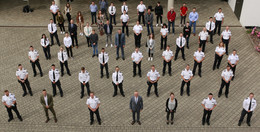 Zusätzliche Stellen und Versetzungen: Polizeipräsident begrüßt Neuzugänge