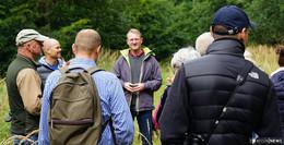Dr. Jens Mischak beim  Infotag Rund um den Wald im Forstamt Romrod