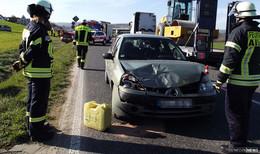 Unfall zwischen Heinebach und Morschen- Zwei Pkw kollidiert