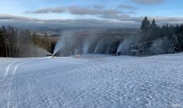 Auf der Wasserkuppe: Zauberteppich soll ab Montag Schneespaß bringen