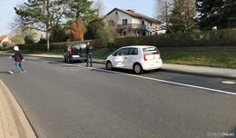 Verkehrsunfall in Edelzell - Eine leichtverletzte Person