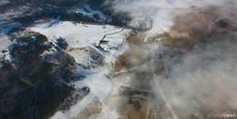 Winterliche Bedingungen erzeugen einzigartige Bilder