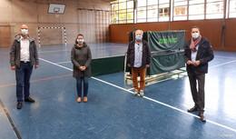 MdL Christoph Degen und BG Dahlmann beim Ortstermin zur Sportinfrastruktur