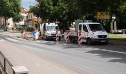 Wasserrohrbruch: Kreuzung Langebrückenstraße/Weimarer Straße