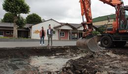 Zweiter Bauabschnitt am Schulhof der Gerhart-Hauptmann-Schule hat begonnen