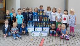 Kindergartenkinder bedanken sich mit tollen Bildern für Spende von Förstina