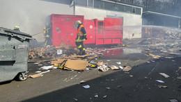 Papierbehälter in den Gersfelder Metallwerken ausgebrannt: geringer Schaden