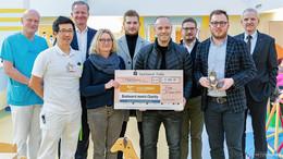 Charity-Grillen von O|N und Fleischerei Meissmer: 5.000 Euro an die Kinderklinik