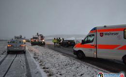 Frontalzusammenstoß auf der K 112: Zwei verletzte Personen