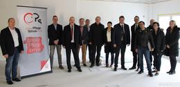 Caritas-Pflegeschule wird ausgebaut: Besichtigung mit OB Wingenfeld