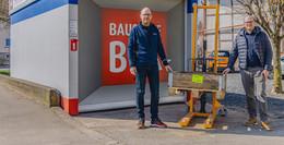 Neue Leinweber-Baustoffbox in Niederbieber: Streben engmaschiges Netz an