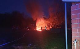 Brand in Hilders: Gemeldetes Gartenhaus entpuppt sich als Altholz