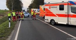 Rettungshubschrauber Christoph 28 vor Ort: Sechs Verletzte bei Auffahrunfall