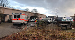 Arbeitsunfall in der Washingtonallee - Frau verletzt