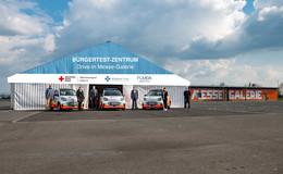 Novum im Kreis Fulda: Drive-In-Schnelltestzentrum öffnet auf Messe Galerie