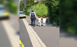 Kleine Ausreißer auf Tour: Polizistin bringt zwei Jungen sicher nach Hause