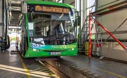 200 Kilometer am Tag: Erster E-Bus Hessens auf Herz und Nieren geprüft
