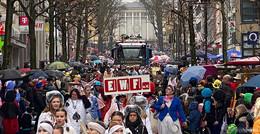 55.000 Narren feiern Rosenmontag in der Barockstadt