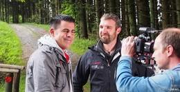 hr-fernsehen dreht mit Ranger Jan Knittel auf der Wasserkuppe