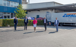 Europaministerin Puttrich bei der Zufall Logistics Group in der Barockstadt
