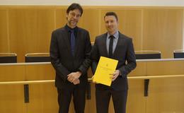 Neuer Vorsitzende Richter am Landgericht: Dominik Dute (38)