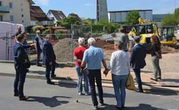 Baustellenbesichtigung der Kindertagesstätte im Hünfelder Nord- und Ostend