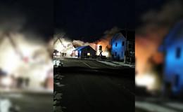 Einfamlienhaus in Hergersdorf in Brand geraten - keine Verletzten!