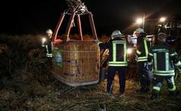 Von Windböe erfasst: Heißluftballon stürzt ab - mehrere Verletzte