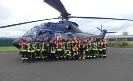 Begehung der Hubschraubermuster am Bundespolizeistandort Hünfeld