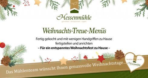 Tschüss Küchenstress, hallo leckeres Weihnachtsmenü: Jetzt bei der Hessenmühle
