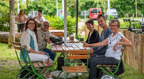 Für Radfahrer und Co.: Neuer Biergarten in der Waldgaststätte Praforst
